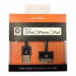 Câble 30 broches vers USB iPhone